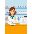 Pharmacist taking notes vector image