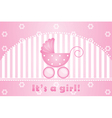 its a girl background vector image