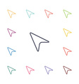 arrow cursor flat icons set vector image
