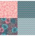 Four seamless set vector image