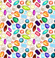 gemstone seamless pattern vector image