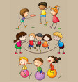 happy children playing games vector image