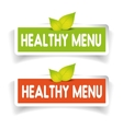 Healthy menu label set vector image