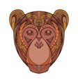 monkey decorated tribal pattern for your creativit vector image