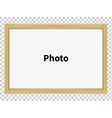 Standing wooden blank clean frame for family photo vector image