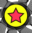 Abstract background with Star on a Circle vector image vector image