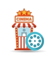 cinema movie ticket office film reel graphic vector image vector image