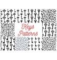 Vintage key victorian skeleton seamless pattern vector image vector image