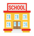school building flat icon education and leran vector image