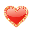 Heart With Gems vector image vector image