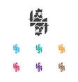 of gambling symbol on king vector image