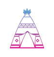 Native american indian teepee home with tribal vector image