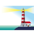 glowing lighthouse vector image