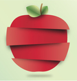 sliced apple vector image