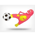 Funny Monster Soccer vector image vector image