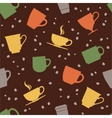 Colorful teacups seamless pattern vector image