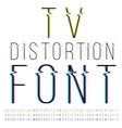 Distortion font vector image