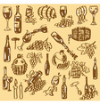 drawing wine vector image