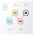 job icons set collection of envelope payment vector image
