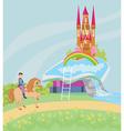 Open book - Prince riding a horse vector image