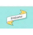 Ribbon banner with text Welcome vector image