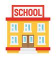 school building flat icon education and leran vector image