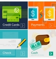 Set of flat design banners payment online vector image