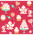 tea and sweets vector image