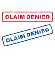 Claim Denied Rubber Stamps vector image