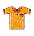 color crayon stripe cartoon golf t-shirt sport vector image