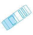 eraser school utensil vector image