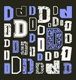 Set versions of letters D vector image