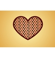 heart with hearts vector image