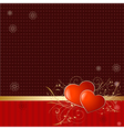 retro wallpaper with valentine vector image