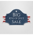 Big 4th of July Sale Tag with Ribbon vector image