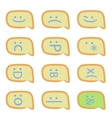 Smartphone sms emoticons vector image