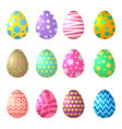 cartoon eggs celebration symbols of easter vector image