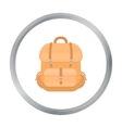 Hunting backpack icon in cartoon style isolated on vector image