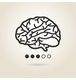 icon brain vector image