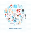 Nanotechnology Round Design vector image