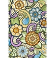 Seamless ornamental colorful pattern with stylized vector image