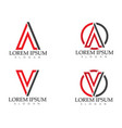 v letters business logo and symbols template vector image