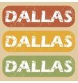 Vintage Dallas stamp set vector image