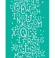 White on green alphabet letters vertical seamless vector image