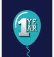 aniversary card icon design vector image