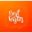 Best wishes quote banner vector image
