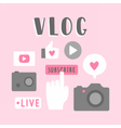 Vlog icons vector image
