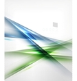 Green and blue abstract lines isolated on white vector image vector image