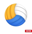 Volleyball in three colors Isolated on white vector image vector image