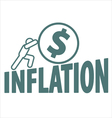 Economy and inflation vector image